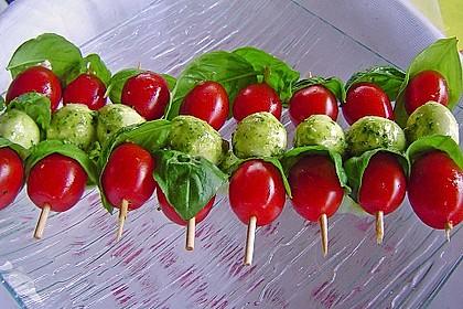 Tomaten - Mozzarella - Spieße 6