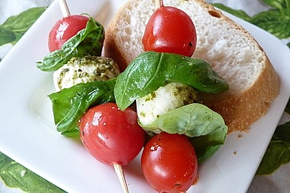 Tomaten - Mozzarella - Spieße 4
