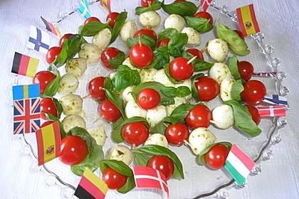 Tomaten - Mozzarella - Spieße 24