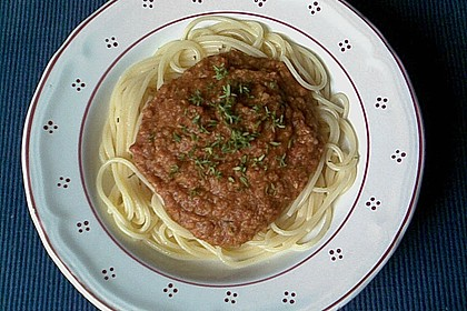 Spaghetti mit Dinkel - Bolognese