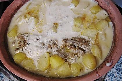 Römertopf - Kräuterhackroulade mit Sahnekartoffeln 2