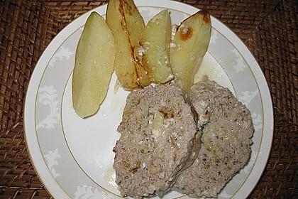 Römertopf - Kräuterhackroulade mit Sahnekartoffeln 3