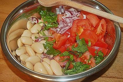 Bohnen / Tomatensalat 3