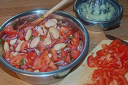 Bohnen / Tomatensalat 5