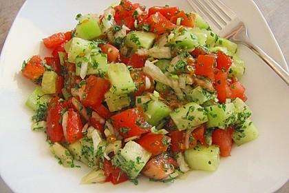 Gurken - Tomatensalat 17