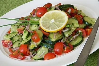 Gurken - Tomatensalat 2