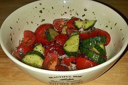 Gurken - Tomatensalat 10
