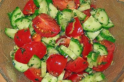 Gurken - Tomatensalat 4