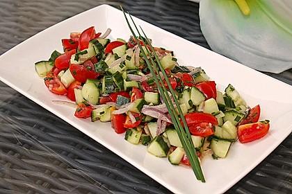 Gurken - Tomatensalat