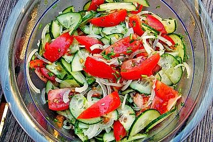 Gurken - Tomatensalat 5