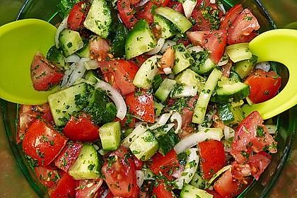 Gurken - Tomatensalat 1