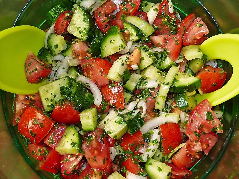Salat tomaten gurke