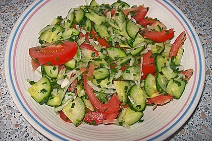 Gurken - Tomatensalat 7