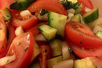 Gurken - Tomatensalat 6