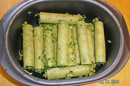 Vegetarische Gemüse - Pilz - Cannelloni 12
