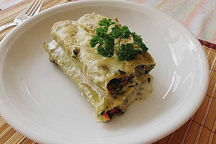 Vegetarische Gemüse - Pilz - Cannelloni 1