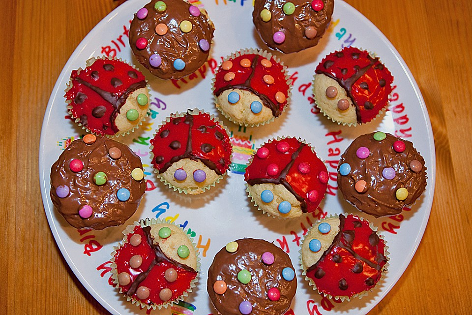 kindergeburtstags muffins rezept mit bild von tomjan. Black Bedroom Furniture Sets. Home Design Ideas