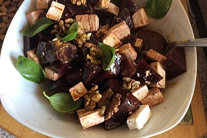 Rote Bete - Salat mit Schafskäse 3