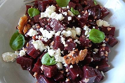 Rote Bete - Salat mit Schafskäse 7
