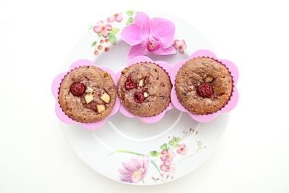 Stracciatella - Kirsch Muffins 2