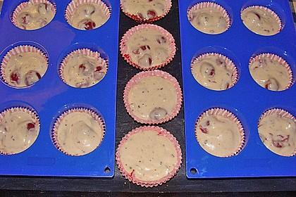 Stracciatella - Kirsch Muffins 72