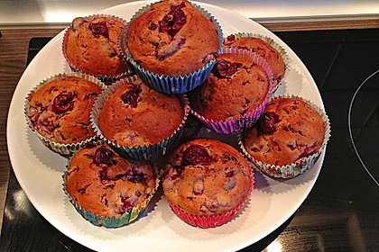 Stracciatella - Kirsch Muffins 36