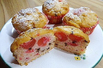Stracciatella - Kirsch Muffins 28