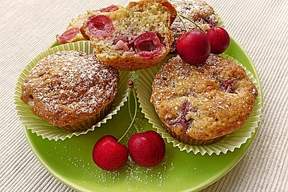Stracciatella - Kirsch Muffins 1