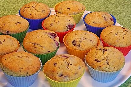 Stracciatella - Kirsch Muffins 16