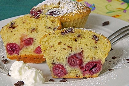 Stracciatella - Kirsch Muffins 4