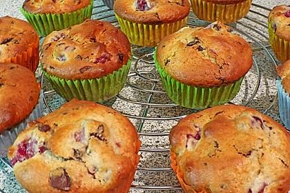 Stracciatella - Kirsch Muffins 8