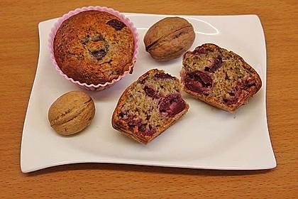 Stracciatella - Kirsch Muffins 45