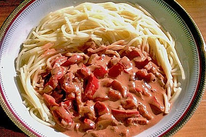 Nudeln mit Paprika - Sahne - Sauce 23