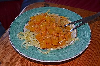 Nudeln mit Paprika - Sahne - Sauce 12