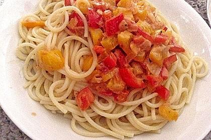 Nudeln mit Paprika - Sahne - Sauce 27