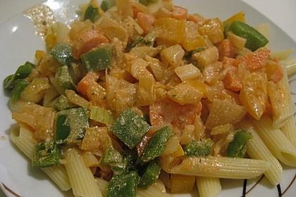 Nudeln mit Paprika - Sahne - Sauce 25