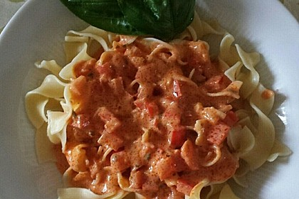 Nudeln mit Paprika - Sahne - Sauce 2