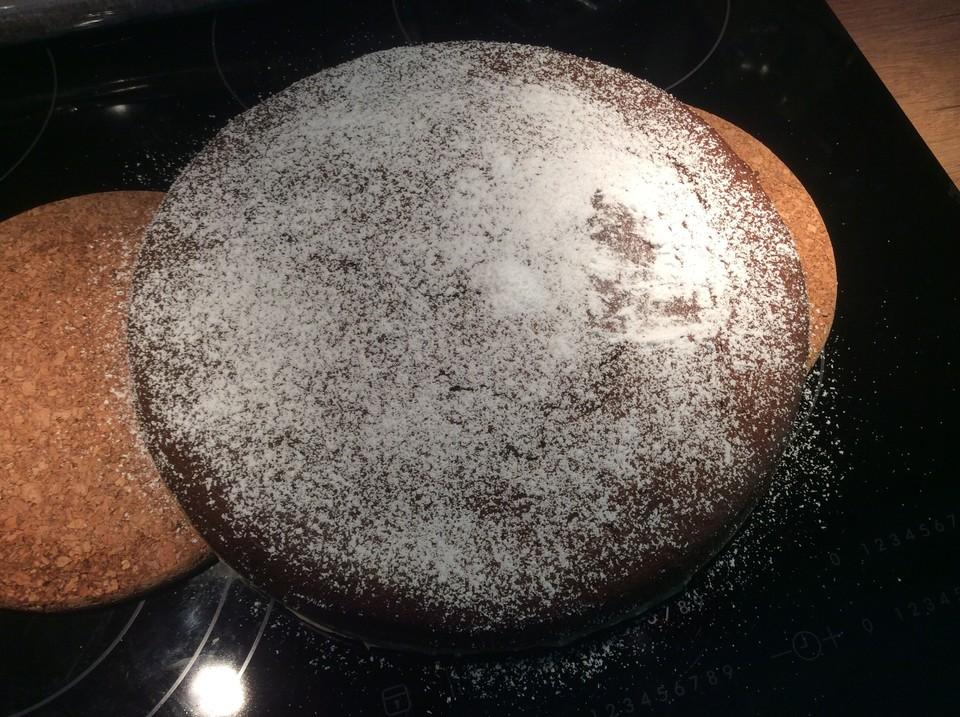 Trockener baileys kuchen