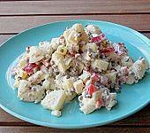 Kartoffel - Linsen - Salat mit Paprika, Apfel und Käse (Bild)