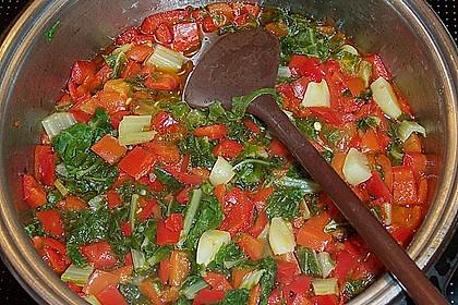 Mangold - Paprika - Soße mit Spaghetti 5