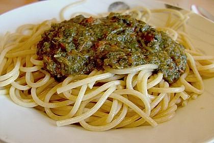 Mangold - Paprika - Soße mit Spaghetti 1