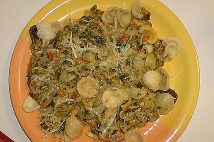 Mangold - Paprika - Soße mit Spaghetti 7