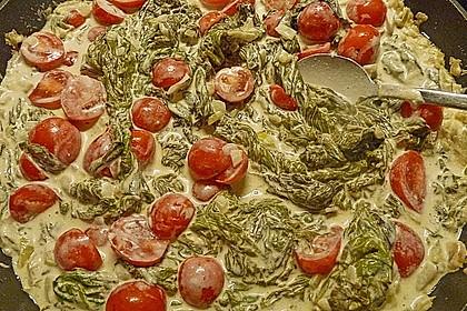 Mangold - Paprika - Soße mit Spaghetti