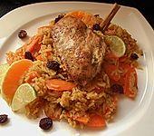Shirin Pollo - Persischer Berberitzen - Reis mit Huhn oder anderem Geflügel