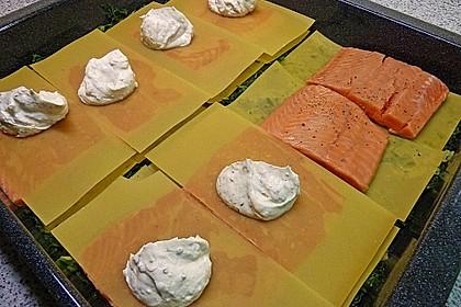 Lachs im Lasagneblatt 9