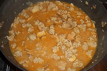 Kartoffelbrei und Gehacktesstippe 2
