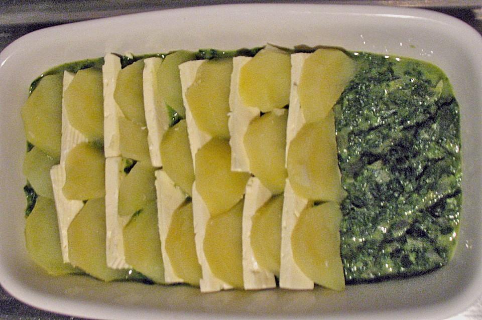 spinat schafsk seauflauf mit kartoffeln rezept mit bild. Black Bedroom Furniture Sets. Home Design Ideas