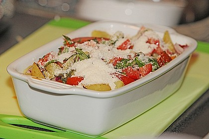 Kartoffel - Paprika - Tomaten - Auflauf 1