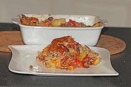 Kartoffel - Paprika - Tomaten - Auflauf