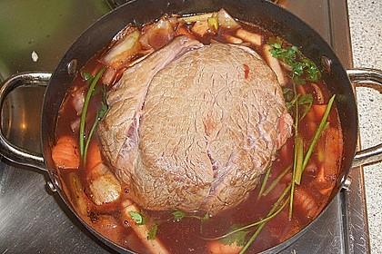 Rinderbraten mit würziger Rotweinsauce 3